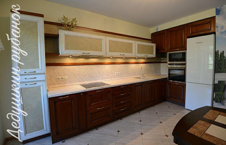 Кухня на заказ 5,9 м Массив Дуба