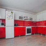 Красная кухня на заказ