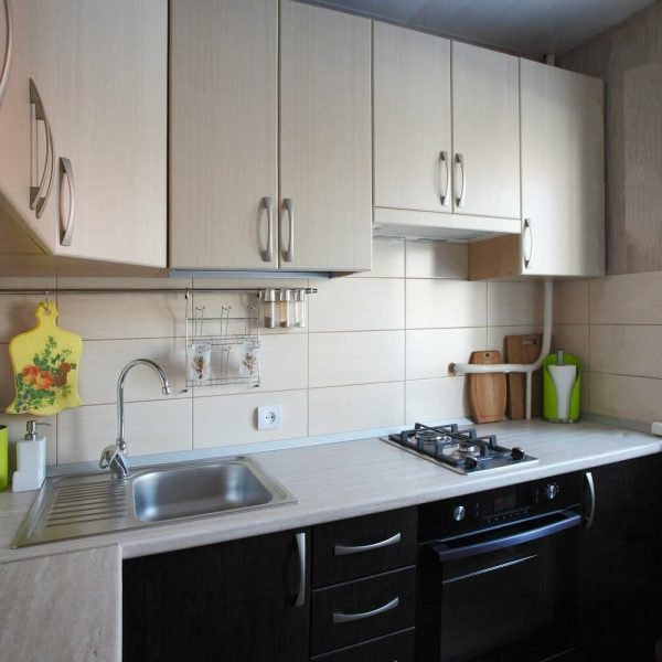Кухня под заказ Тиковое дерево