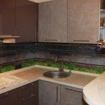 Кухня вашей мечты Фартук для кухни Кухонный фартук из закаленного стекла полезные советы материалы характеристика размеры кухонного фартука рисунок трава фото