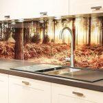 Кухня вашей мечты Фартук для кухни Кухонный фартук из закаленного стекла полезные советы материалы характеристика размеры кухонного фартука фото