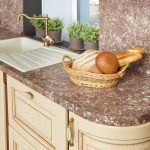Кухня вашей мечты Фартук для кухни Кухонный фартук из искусственного камня полезные советы материалы характеристика размеры кухонного фартука фото