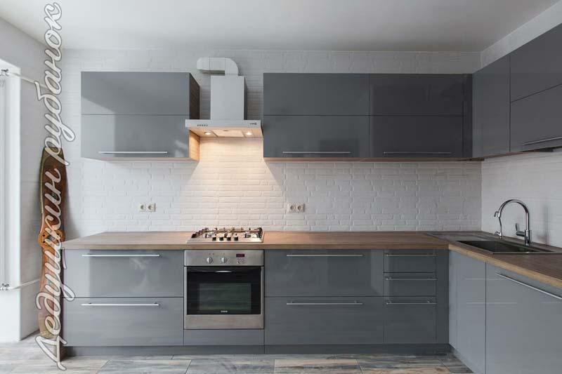 Кухня под заказ 4,8м – пластик