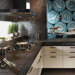 Кухня вашей мечты Фартук для кухни Кухонный фартук из мозаики полезные советы материалы характеристика размеры кухонного фартука шоколад фото