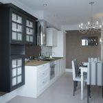 Кухня вашей мечты Черно-белая кухня полезные советы материалы характеристика размеры сочетание цветов яркие акценты на белой кухне мебель для кухни фото