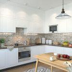 Кухня вашей мечты Фартук для белой кухни полезные советы материалы характеристика размеры кухонного фартука сочетание цветов белая кухня фартук из плитки фото
