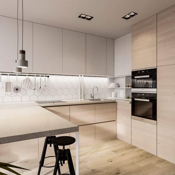 Кухня вашей мечты современная кухня бежевая цветовое решение советы профессионалов выбор кухни поэтапно наполнение кухонного гарнитура свежие идеи фото