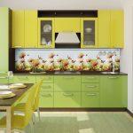 Кухня вашей мечты Фартук для кухни Кухонный фартук из пластика полезные советы материалы характеристика размеры кухонного фартука глянцевая кухня современная кухня зеленая кухня желтая кухня фото