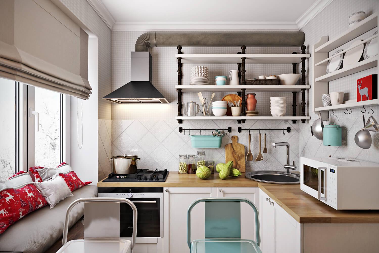 Интересные варианты планировки маленькой кухни фото