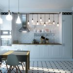 Кухня вашей мечты Фартук для белой кухни полезные советы материалы характеристика размеры кухонного фартука сочетание цветов белая кухня меловая доска фото