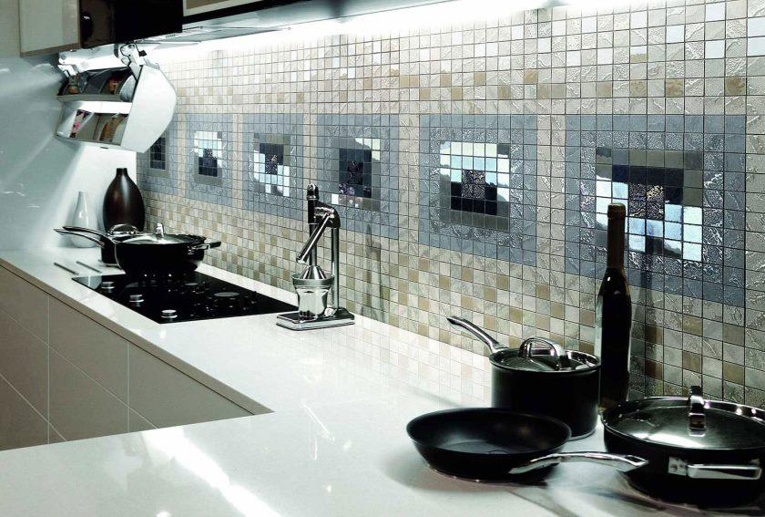 Кухонный фартук из мозаики полезные советы варианты исполнения фото