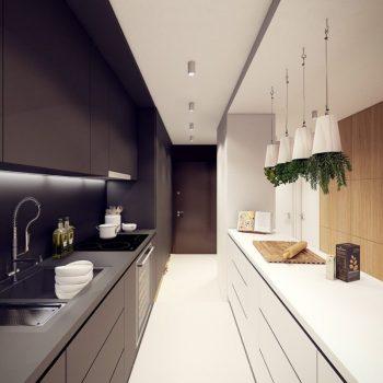 Кухня вашей мечты ТОП-6 планировок для кухни Двухрядная планировка кухни контраст варианты исполнения фото