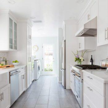 Кухня вашей мечты ТОП-6 планировок для кухни Двухрядная планировка кухни белая кухня варианты исполнения фото