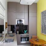 Кухня в современном стиле маленькая кухня цветовое решение вариант исполнения фото