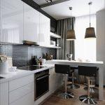 Кухня в современном стиле маленькая кухня белая кухня кухня с полуостровом вариант исполнения фото