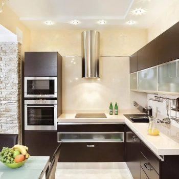 Топ-6 планировок для кухни Г-образная планировка кухни варианты исполнения фото