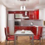 Кухня вашей мечты Красно-белая кухня полезные советы материалы характеристика размеры сочетание цветов яркие акценты на белой кухне маленькая кухня студия фото