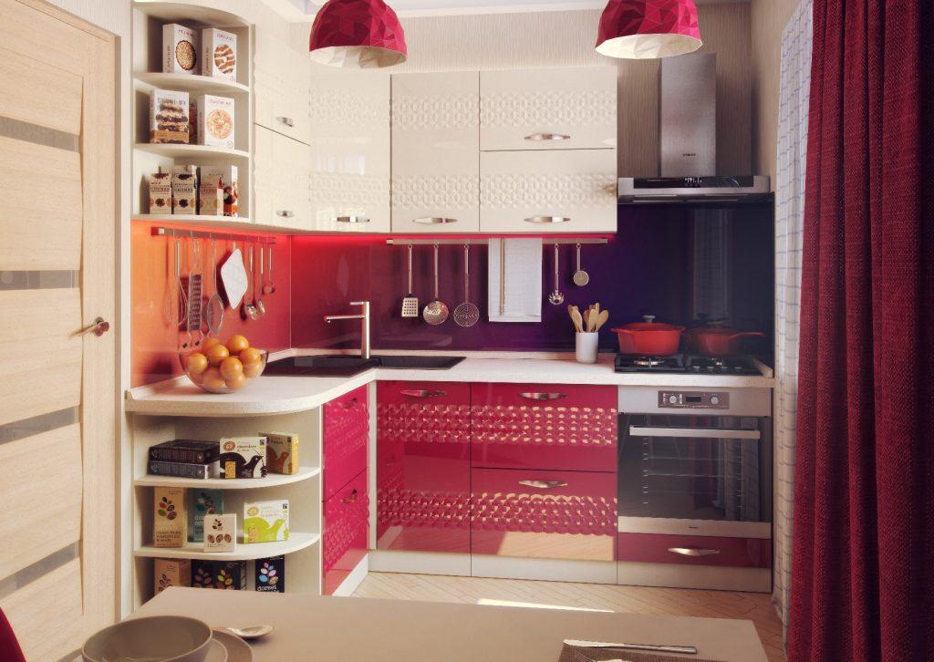 Угловая кухня типы планировок подбор стиля оформление угловой кухни угловая красная кухня фото