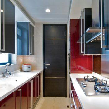 Кухня вашей мечты ТОП-6 планировок для кухни Двухрядная планировка кухни красная кухня варианты исполнения фото