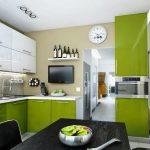 Кухня вашей мечты Бело-зеленая кухня полезные советы материалы характеристика размеры сочетание цветов яркие акценты на белой кухне сочетание цветов фото