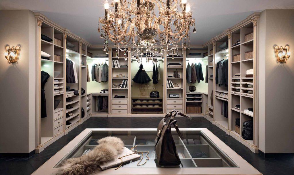 Гардеробная комната: планировка, варианты исполнения, размеры, фото