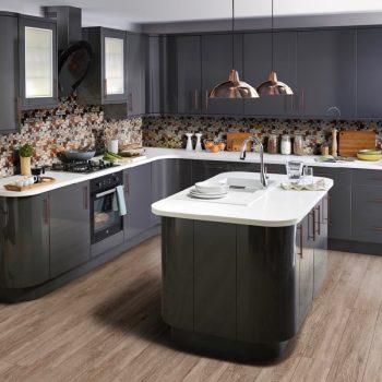 Кухня вашей мечты ТОП-6 планировок для кухни Островная планировка кухни серая кухня варианты исполнения фото