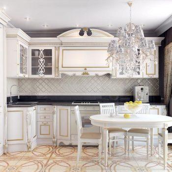Кухня вашей мечты ТОП-6 планировок для кухни Г-образная планировка кухни классическая кухня варианты исполнения фото