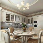 Кухня в классическом стиле, выбор кухни поэтапно наполнение кухонного гарнитура варианты исполнения идеи фото