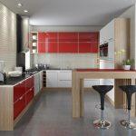 Кухня вашей мечты Красно-белая кухня полезные советы материалы характеристика размеры сочетание цветов яркие акценты на белой кухне черная мебель фото
