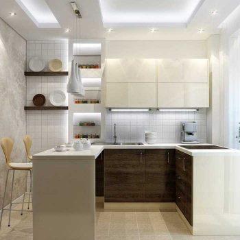 Кухня вашей мечты ТОП-6 планировок для кухни Полуостровная планировка кухни белая кухня варианты исполнения фото
