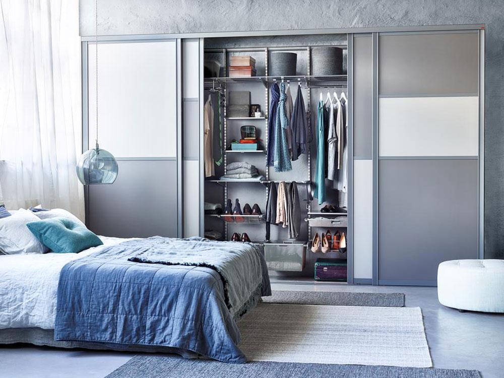 Шкаф купе в спальне варианты наполнения фото